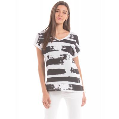 Shuffle Digital Print Hybrid T-Shirt