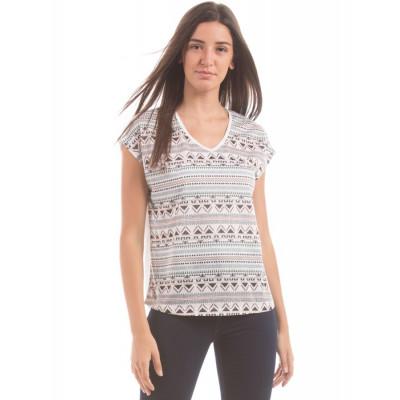 Shuffle Aztec Print T-Shirt