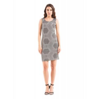 Shuffle Monochrome Bodycon Dress
