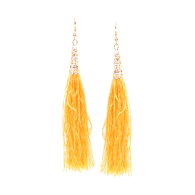Rubans Yellow Fringe Dangler Earrings