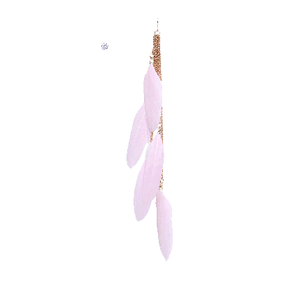 Rubans Pink Feather and Stud Earrings