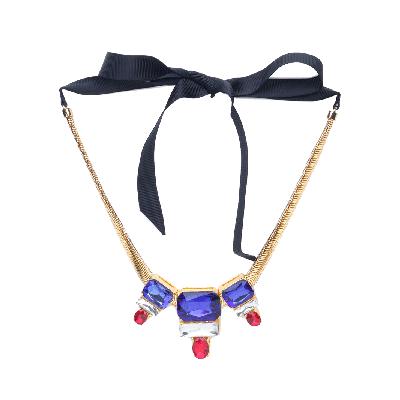 Rubans Colourful Chunky Stone Embellished Statement Necklace