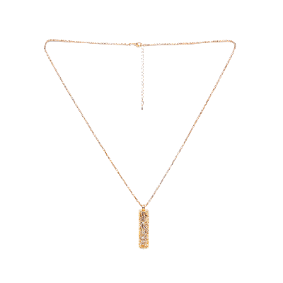 Rubans Golden Long Cylindrical Pendant Chain