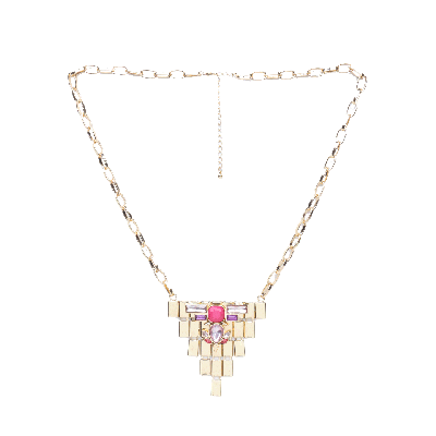 Rubans Gold Plated Pink Necklace