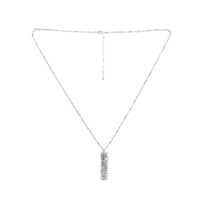 Rubans Silver Long Cylindrical Pendant Chain