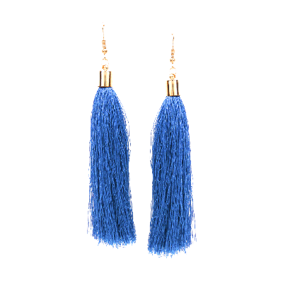 Rubans Chic Blue Fringe Dangler Earrings