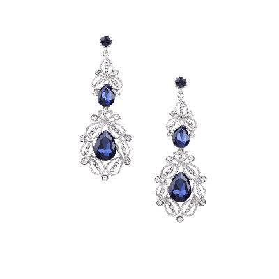 Rubans Midnight Blue Party Drop Earrings