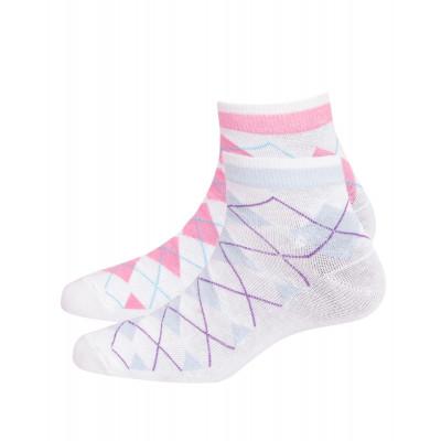 Silver Guard Anti-Odour Printed No Show Socks