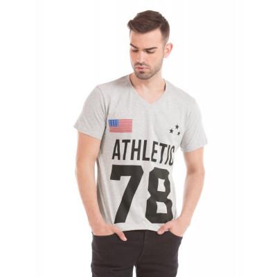 Prym Grey Melange Printed T-shirt
