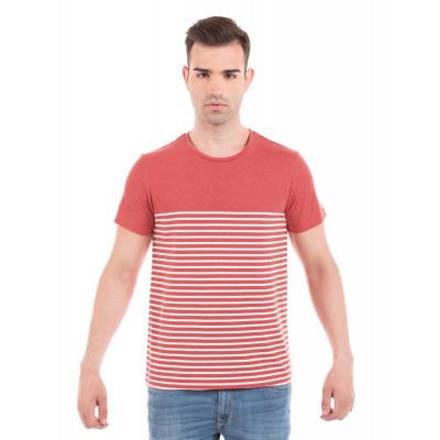 PRYM Red Melange Striped T-Shirt
