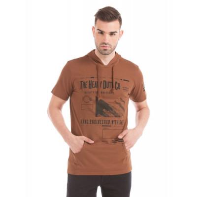 Prym Brown Printed T-shirt