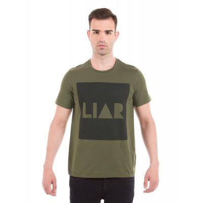 PRYM Olive Typography Printed T-Shirt