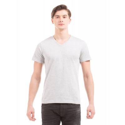 PRYM Grey V-Neck Basic T-shirt
