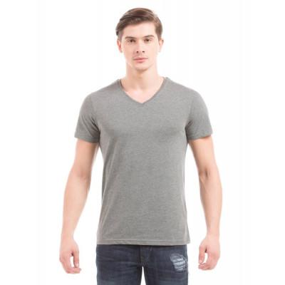 PRYM Anthracite V-Neck Basic T-shirt