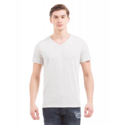 PRYM Ecru V-Neck Basic T-shirt