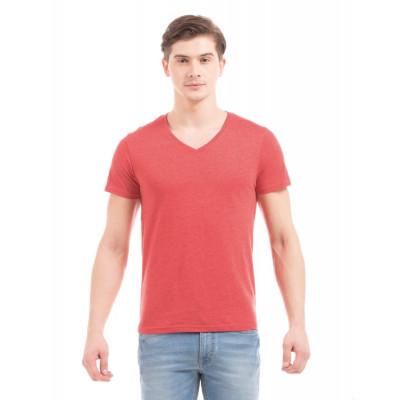 PRYM Red V-Neck Basic T-shirt