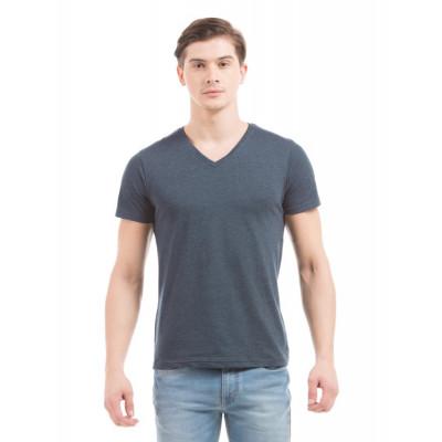 PRYM Navy V-Neck Basic T-shirt