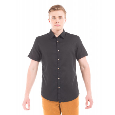 PRYM Black Half Sleeve Shirt