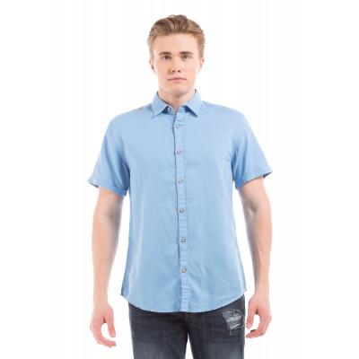 PRYM Light Blue Half Sleeve Shirt