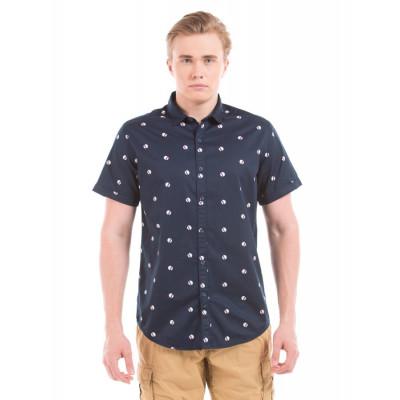 PRYM Navy Polka Print Half Sleeve Shirt