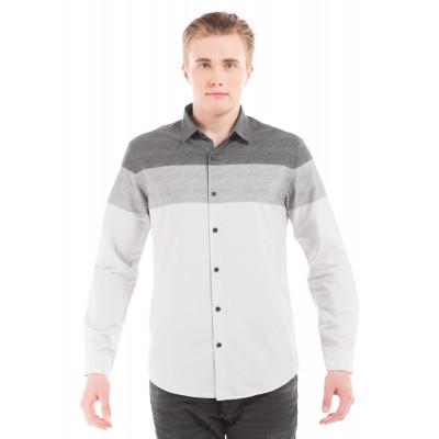 PRYM Grey Colour Blocked Shirt