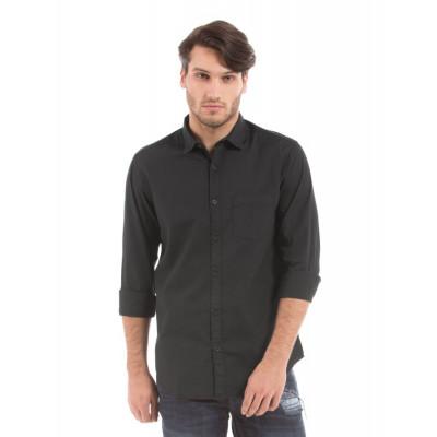 PRYM Black Poplin Full Sleeve Shirt