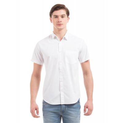 PRYM White Poplin Half Sleeves Shirt