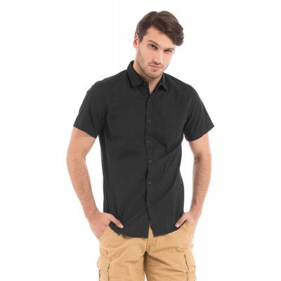 PRYM Plain Black Poplin Shirt