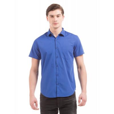 PRYM Prussian Blue Poplin Half Sleeve Shirt