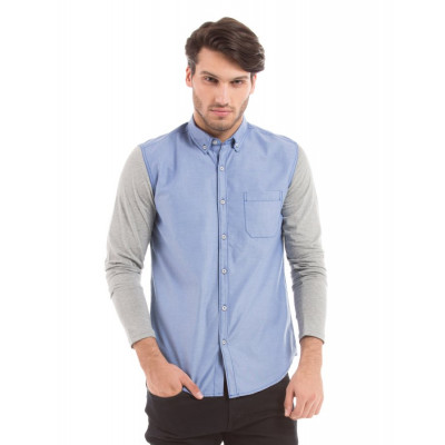 PRYM Woven Shirt With Knitted Sleeves
