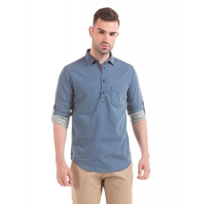 Shuffle Indigo Kurta Style Shirt
