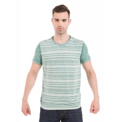 Shuffle Mint Aztec Bleached T-Shirt