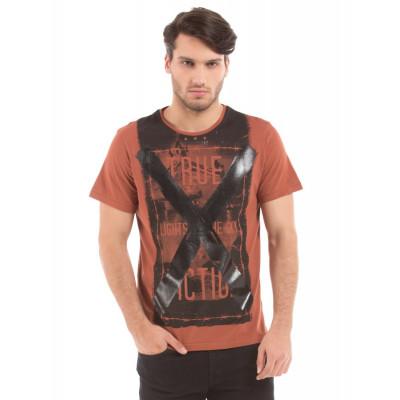 Shuffle Rust Gel Print T-shirt