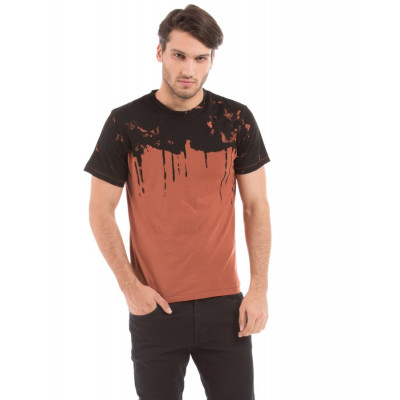 Shuffle Rust Drip Print T-shirt
