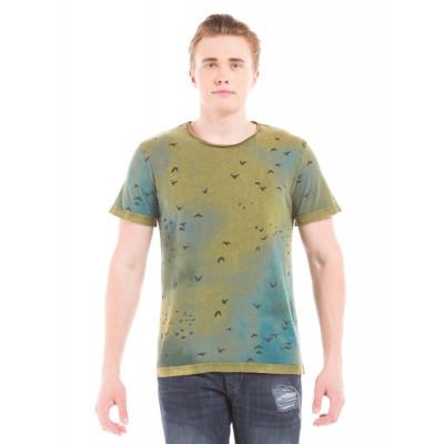 Shuffle Heraldic Shield Print T-Shirt
