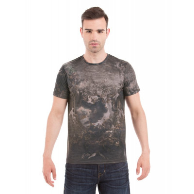 Shuffle Dark Grey Renaissance Sublimation Print T-Shirt