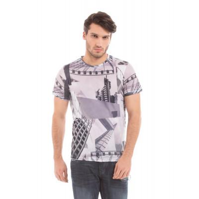 Shuffle Grey Sublimation Print T-shirt