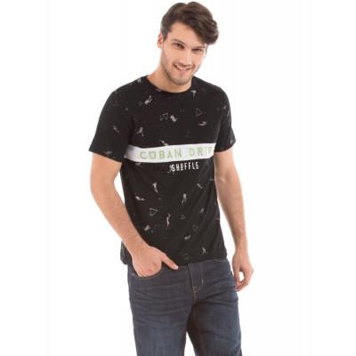 Shuffle Contrast Print T-shirt