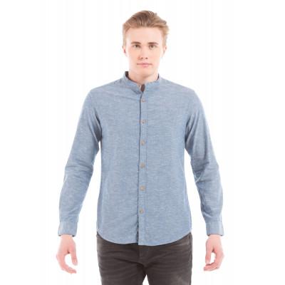 Shuffle Blue Mandarin Neppy Shirt