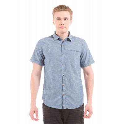 Shuffle Blue Shirt With Pocket Square