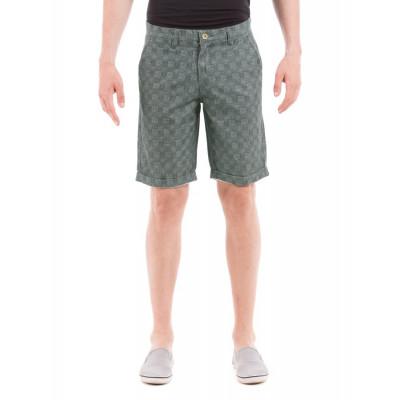 Shuffle Denim Patchwork Print Shorts