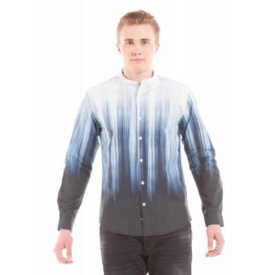 Shuffle Brush Effect Print Shirt