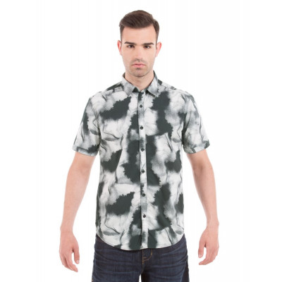 Shuffle Grey Brush Print Shirt