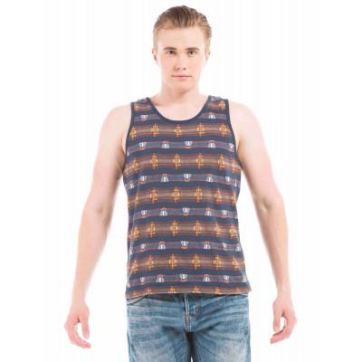 Shuffle Navy Jacquard Vest T-Shirt