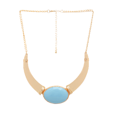 Rubans Chunky Choker Necklace with Turquoise