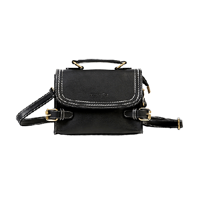 Claire Black Boxy Sling Bag