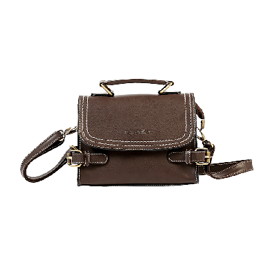 Claire Brown Boxy Sling Bag