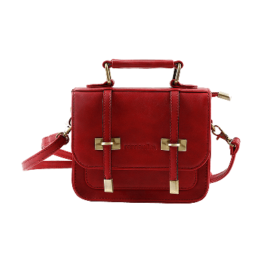 Eva Maroon Satchel Bag