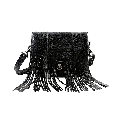 Viv Fringed Black Sling Bag