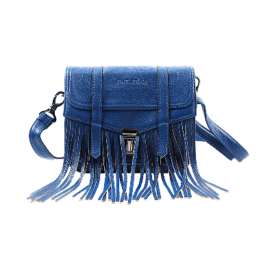 Viv Fringed Blue Sling Bag